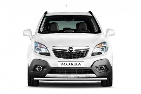Защита переднего бампера одинарная d51мм Opel Mokka 4х4 TURBO (нерж)